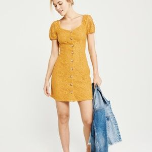 NWOT Abercrombie & Fitch Button Up Lace Dress